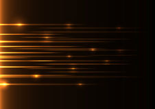 Laser anaranjado de la velocidad Imagen de archivo