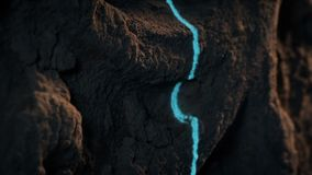 Laser avläser snidit forntida vaggar yttersida lager videofilmer