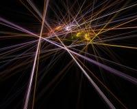 Laser Battle. A digital creation resembling colorful laser beams Stock Image