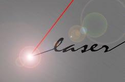 Laser beam. Cuts brushed metal Stock Illustration