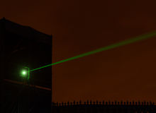 Laser beam tower Royalty Free Stock Images