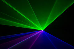Laser beams Stock Images