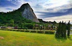 Laser-Buddha, Pattaya Thailand Royaltyfri Foto