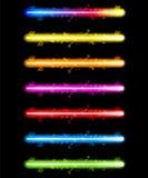 Laser-bunte Neonleuchten stock abbildung