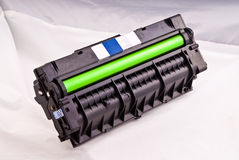 Laser cartridge with green drum Royalty Free Stock Images