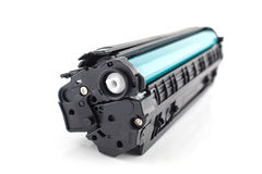 Laser cartridge  on white Royalty Free Stock Photo