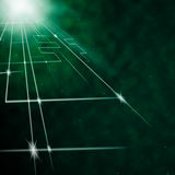 Laser Circuit Background Means Neon Art Or Bright Lines Stock Photos