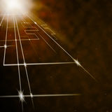 Laser Circuit Background Shows Shining Lines Or Concept Royalty Free Stock Photos