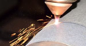laser cladding, robot welding stock photography