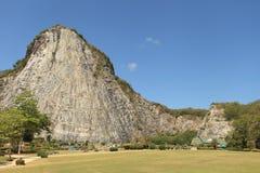 The laser cliff buddha image KHAO CHEECHAN BUDDHA IMAGE Stock Image
