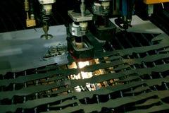 Laser close-up. Lasercutting close-up. Sheet metall cutting Stock Image