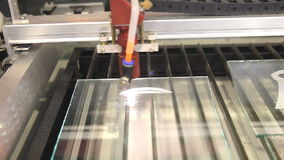 Laser CNC cutter stock video footage