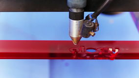Laser cnc machine cutting technology word Royalty Free Stock Photography