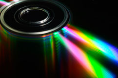 Laser compact disk. Royalty Free Stock Images