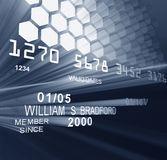 Laser Credit Card. Credit card with laser and stylized data transfer