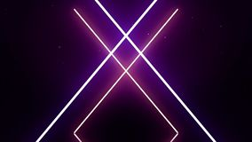 Laser cross with synchronous motion of lines. Flare light effect. royalty free illustration