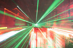 Laser crowd Stock Images