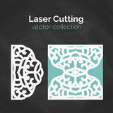 Laser Cut Card. Template For Cutting. Cutout Illustration. Royalty Free Stock Photography