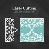 Laser Cut Card. Template For Cutting. Cutout Illustration. Stock Images