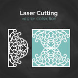 Laser Cut Card. Template For Cutting. Cutout Illustration. Stock Image