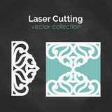 Laser Cut Card. Template For Cutting. Cutout Illustration. Royalty Free Stock Image