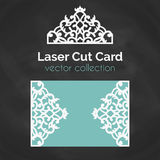 Laser Cut Card. Template For Laser Cutting. Cutout Illustration With Abstract Decoration. Die Cut Wedding Invitation. Card. Vector envelope design Stock Photo