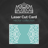 Laser Cut Card. Template For Laser Cutting. Cutout Illustration With Abstract Decoration. Die Cut Wedding Invitation. Card. Vector envelope design Stock Image