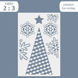 Laser cut christmas invitation card template. Cut out the paper card with lace pattern.  Greeting card template for cutting plotte. R. Congratulation to Royalty Free Stock Photography