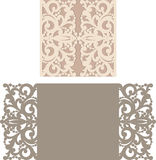 Laser cut envelope template for invitation wedding card Royalty Free Stock Image