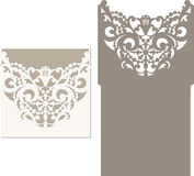 Laser cut envelope template for invitation wedding card Stock Images