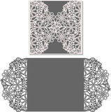 Laser cut envelope template for invitation wedding card Stock Photos