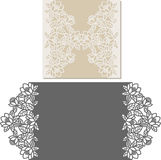 Laser cut envelope template for invitation wedding card Royalty Free Stock Photos