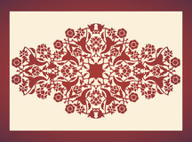 Laser cut floral arabesque ornament pattern vector. Template cut. Ting wedding invitation, greeting card. Silhouette border printing, engraving, laser cutting Stock Photography