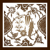 Laser cut floral arabesque ornament pattern vector. Template cut stock illustration