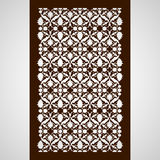 Laser cut floral arabesque ornament pattern vector. Template cut Stock Photo