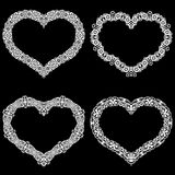 Laser Cut Frame In The Shape Of A Heart With Lace Border. A Set Of The Foundations Stock Photos