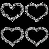 Laser cut frame in the shape of a heart with lace border. Royalty Free Stock Photography