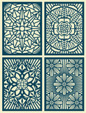 Laser cut fretwork vector pattern cards, panels Stock Image