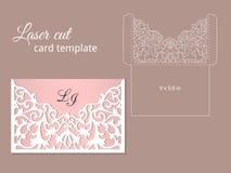 Laser cut invitation card template Stock Photo