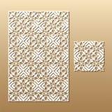 Laser cut lace pattern Stock Images