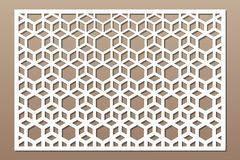 Free Laser Cut Panel. Decorative Card For Cutting. Arabic, Line Art Pattern. Ratio 2:3. Vector Illustration Royalty Free Stock Photography - 148875467