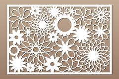 Free Laser Cut Panel. Decorative Card For Cutting. Flower Art Geometry Pattern. Ratio 2:3. Vector Illustration Royalty Free Stock Photo - 148874045