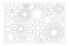 Free Laser Cut Panel. Decorative Card For Cutting. Flower Art Geometry Pattern. Ratio 2:3. Vector Illustration Stock Image - 148874751