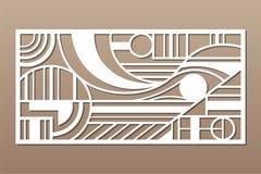 Free Laser Cut Panel. Decorative Card For Cutting. Geometry Line Figure Art Pattern. Ratio 1:2. Vector Illustration Stock Photos - 148873023