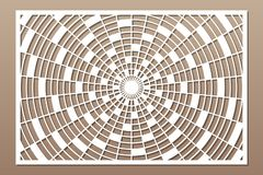 Free Laser Cut Panel. Decorative Card For Cutting. Geometry Line Pattern. Ratio 2:3. Vector Illustration Stock Photography - 148875692