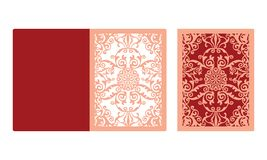 Laser cut panel design. Floral wall decor. Vector template for cutting vector illustration