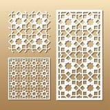 Laser cut panel Stock Images