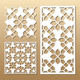 Laser cut panel Royalty Free Stock Images