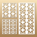 Laser cut panel. Die cut card. Laser cut vector panel. Cutout silhouette with geometric pattern. A picture suitable for printing, engraving, laser cutting paper Royalty Free Stock Images