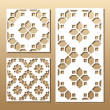 Laser cut panel. Die cut card. Laser cut vector panel. Cutout silhouette with geometric pattern. A picture suitable for printing, engraving, laser cutting paper Stock Images